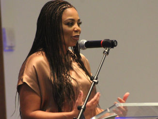"""I like being at The Atlantic,"" said former ESPN journalist and commentator Jemele Hill. ""I'm a lot less apologetic. I'm sort of all out of apologies."" (Photo: Harlan McCarthy)"