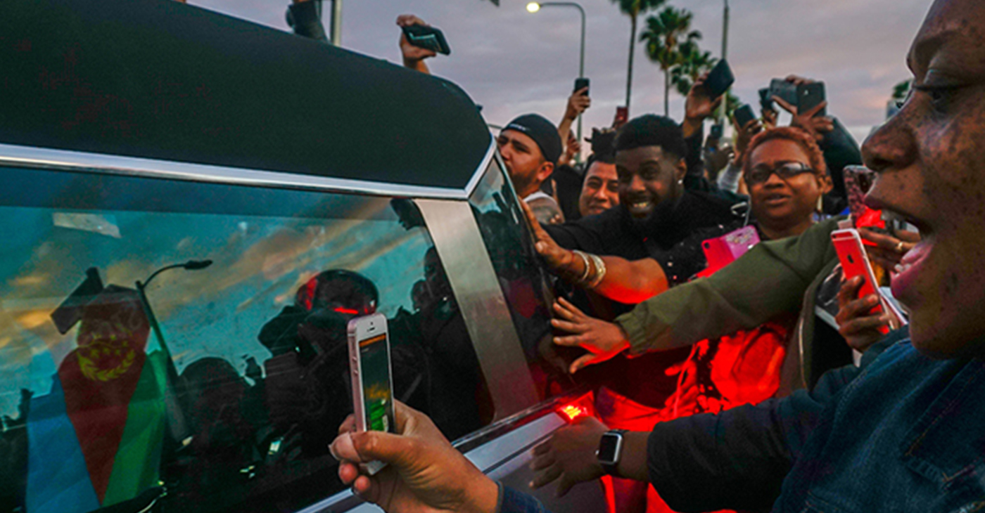 Nipsey Hussle Procession (Photo by: wavenewspapers.com)