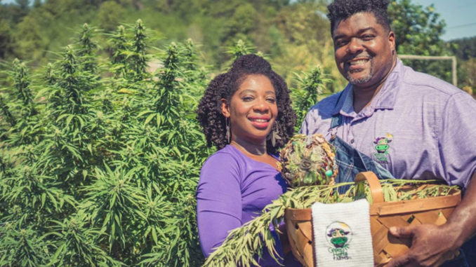 Clarenda Stanley-Anderson and her husband, Malcolm Anderson Sr., are hemp farmers in Liberty, N.C. Stanley-Anderson wants to expand the representation of hemp farmers, even if she's far from the average industry insider. (Photo by: Donnie Rex/TNS)