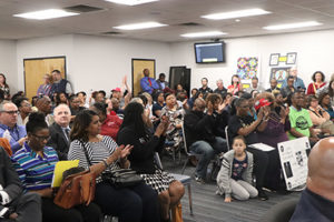The Metro School Board chamber was packed Tuesday with a pro-Joseph crowd. Some parents told the board that the turmoil and fighting has kept their children from getting a good education.