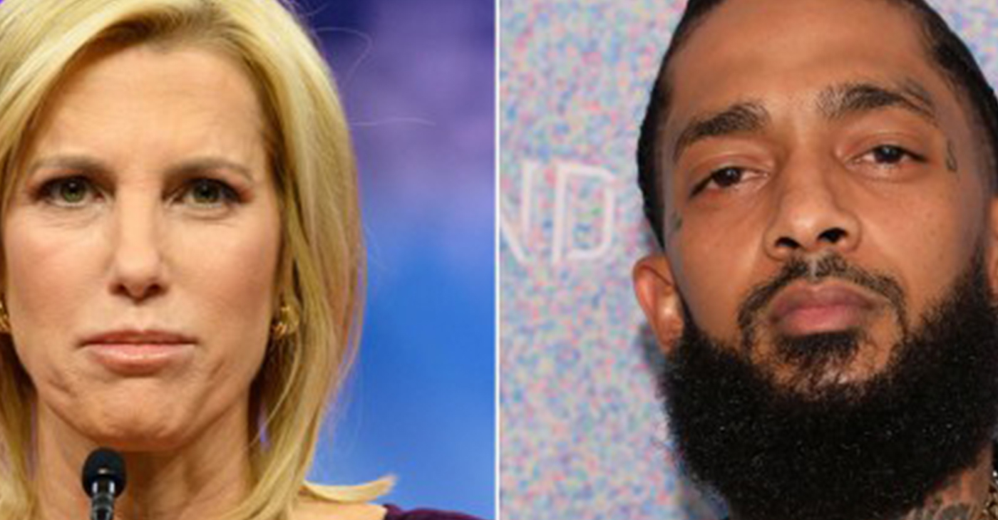 Laura Ingraham and Nipsey Hussle (Photo by: LA Focus)