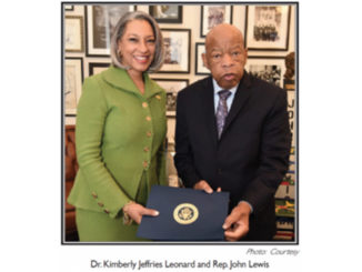 Dr. Kimberly Jeffries Leonard and Rep. John Lewis