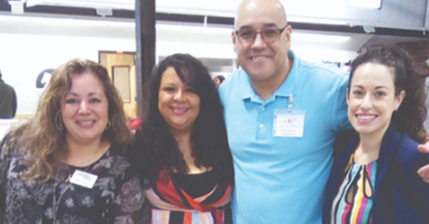 "The Latino Business Board was behind the well-attended event, ""The Second Annual Latinos in Business Expo,"" held Sunday afternoon at Newburgh's Armory. From left are Board Members; Martha Barrera of Walden Savings Bank; Sandra Salguero of Superior Mortgage; Richard Narvaez of Principal Financial and Gisela Gomez of M & T Bank."