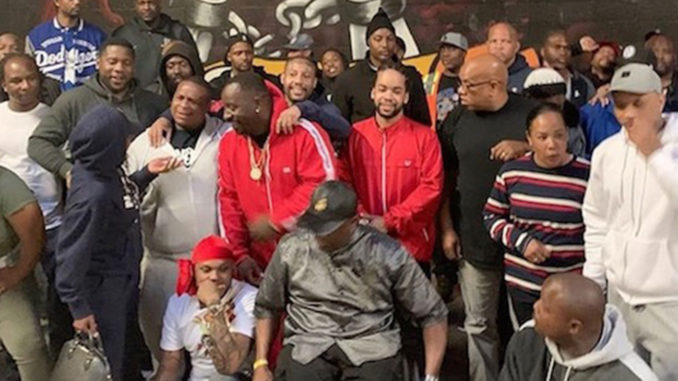 Local bloods and crips gang members unite in solidarity to honor fallen rapper Nipsey Hussle(photo courtesy of Big U/ Instagram).