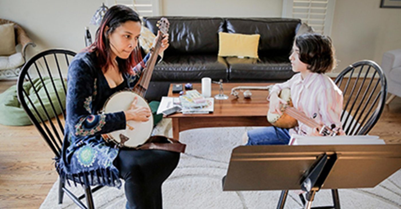 Rhiannon Giddens, left, and Uma Peters. (Photo by: Bradley Hanson)