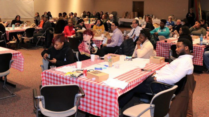 Dozens of neighborhood residents attend a community conversation at Ascension St. Joseph about how to make their community healthier, one of four conversations hosted by Ascension Wisconsin in January.