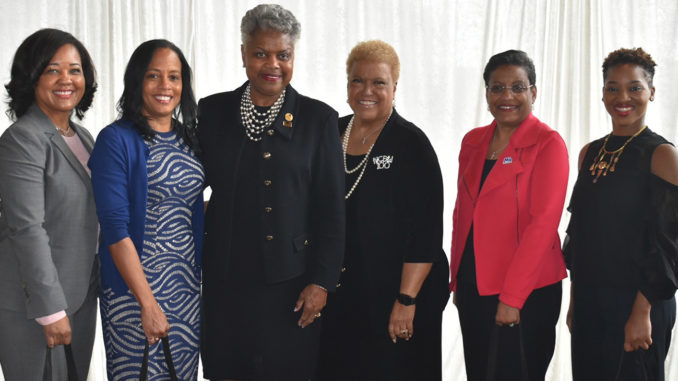 Photo: From L-R: Angela Marshall, Chair, Board of Directors, BWHI, Linda Goler Blount, President & CEO, BWHI, Virginia Harris, President, NCBW, Seretha Tinsley, 1st Vice President of Programs, NCBW, Stacey D. Stewart, President, March of Dimes, and Mia Keeys, Health Policy Advisor to Congresswoman Robin Kelly (D-IL)/Courtesy of The Black Women's Health Imperative
