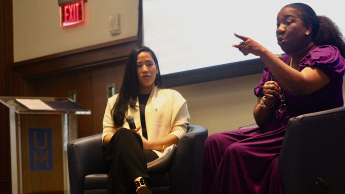 Tarana Burke's commitment to helping survivors of sexual abuse resonated with those who heard her speak at the UofM. (Photo: Harlan McCarthy)