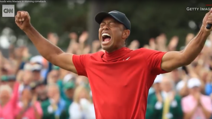2019 Masters champ Tiger Woods completed arguably the greatest sporting comeback of all time as he put on the green jacket for the 5th time in his career. #CNN #News (Photo: Screencapture YouTube)