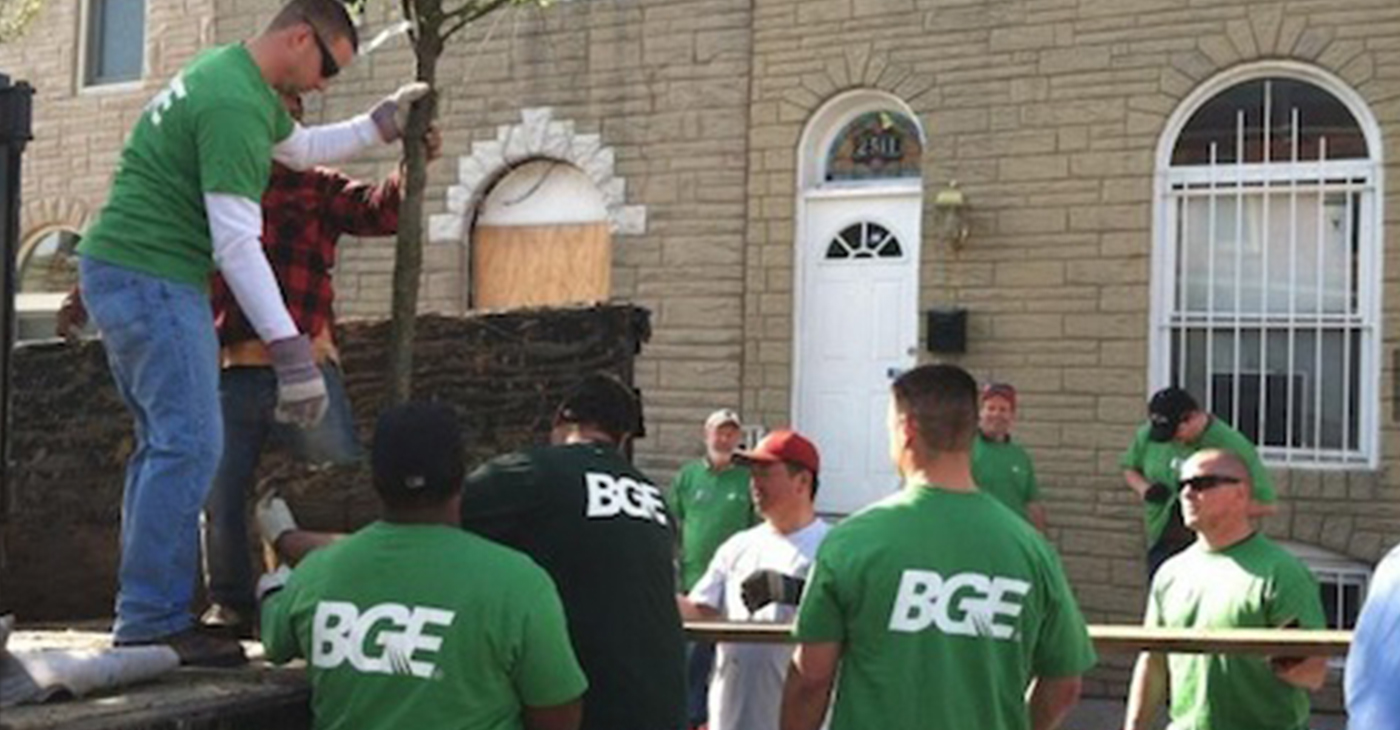 BGE Employees Volunteering (Photo Courtesy of BGE)
