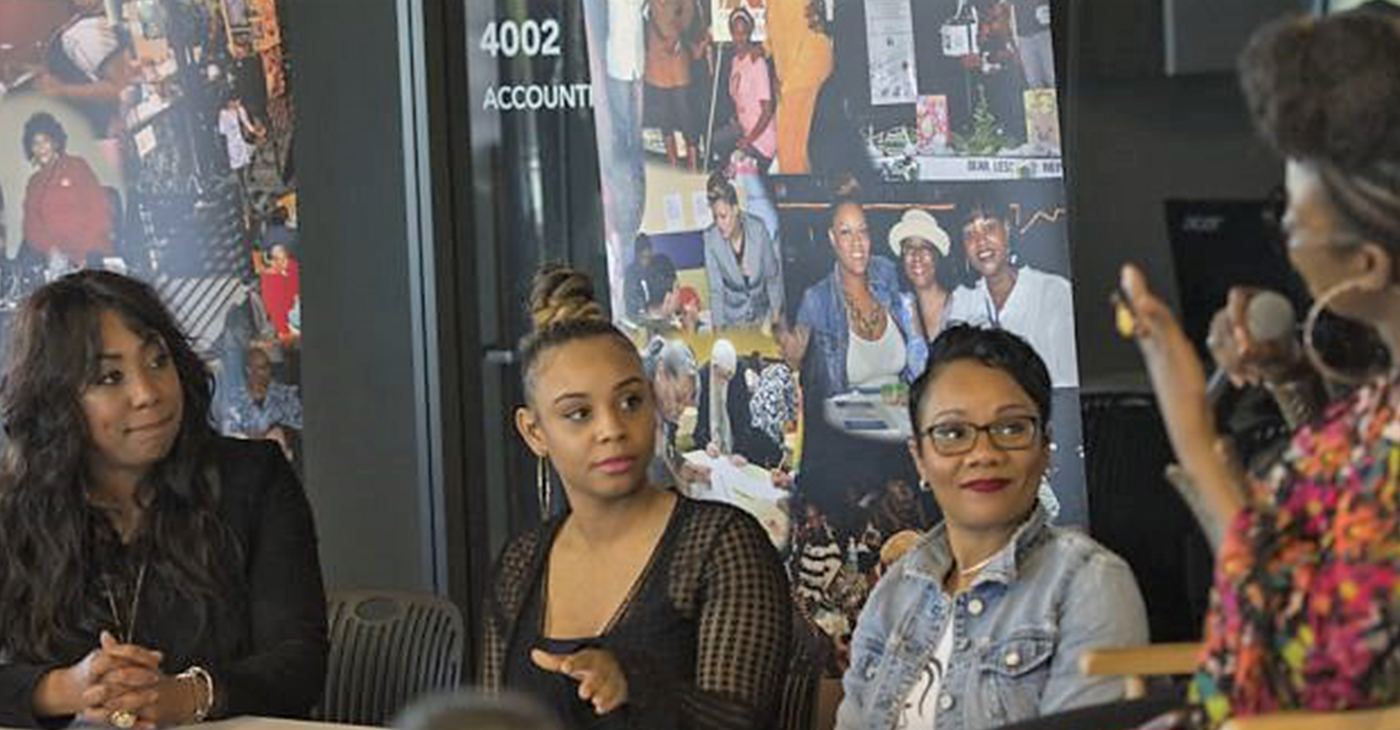 (l-r) Faatemah Ampey, Essence Shabazz, Briana McCall Cress and Stephenetta (isis) Harmon (Photo by: Steve Floyd   MSR News)