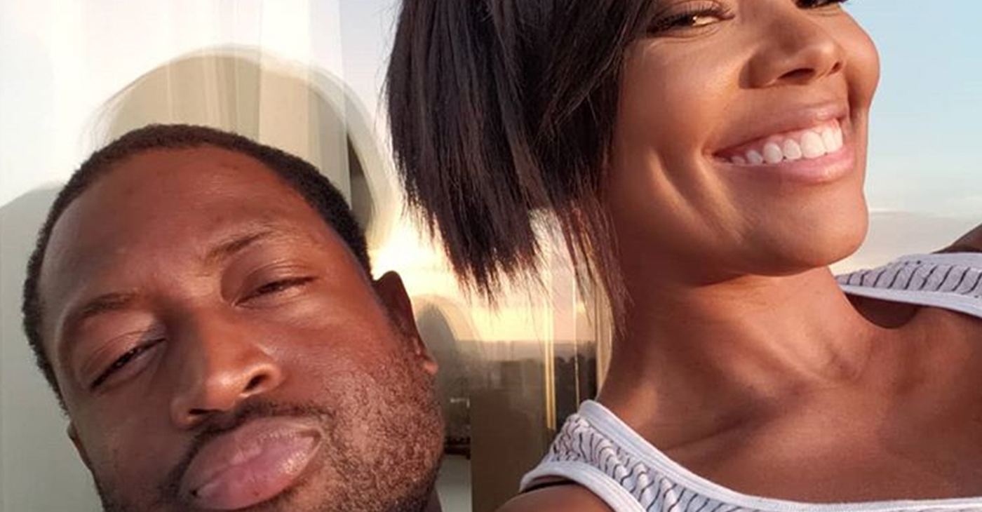 "Dwyane ""D-Wade"" Wade and Gabrielle Union. (Image source: Instagram – @gabunion)"