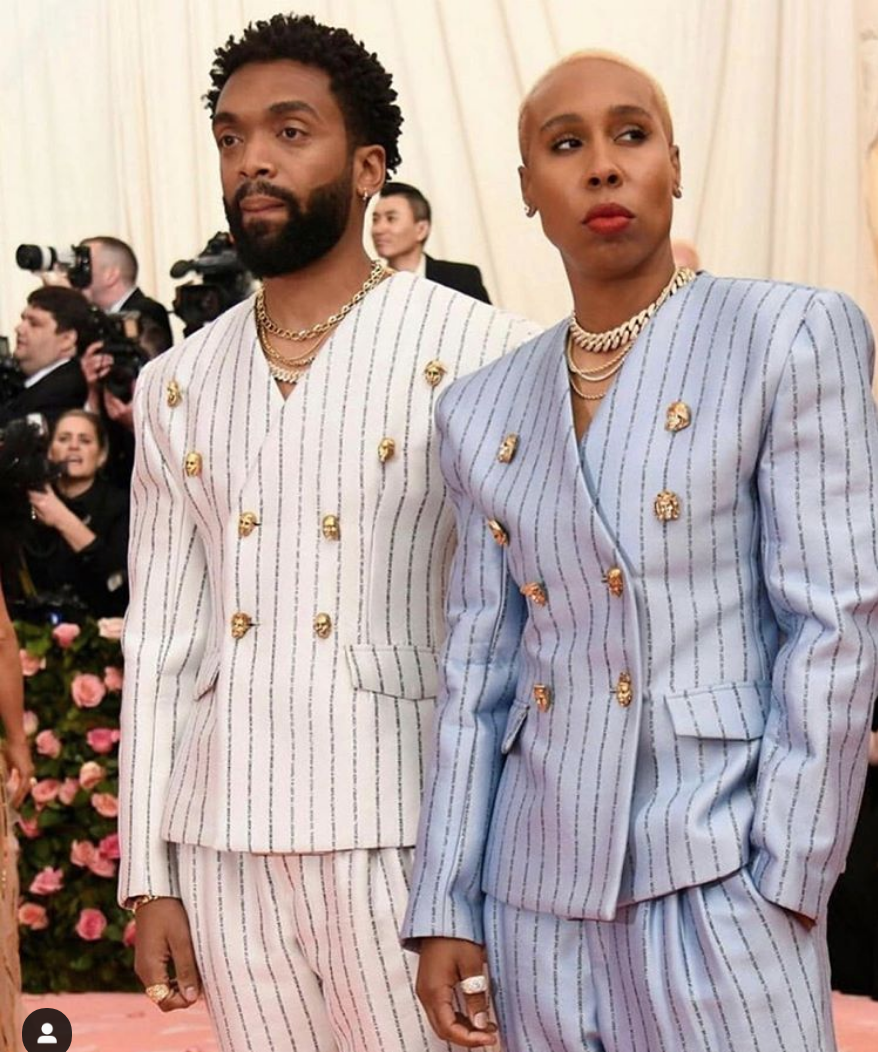 Fashion Designer Kerby Raymond-Jean and Actress/Showrunner Lena Waithe arrive at the 2019 Met Gala. (Instagram: Lena Waithe)