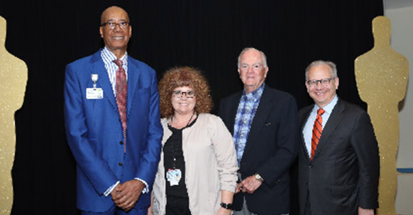 l-r Dr Joseph Webb, Sandra Peach, Wilford Fuqua and Mayor David Briley. (photo by Roland's Photography)