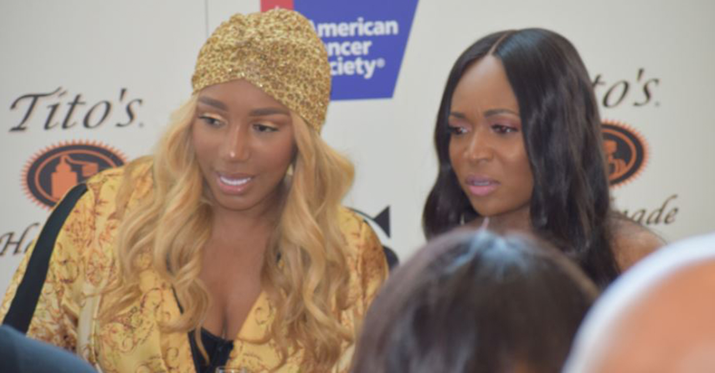 Nene Leakes, who is posing with her friend and RHOA co-star Marlo Hampton, became the first Black woman to open up a store at MGM National Harbor, with her shop Swagg Boutique.