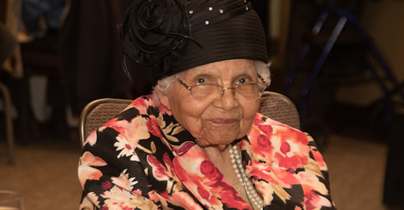 The DC Department of Aging and Community Living celebrates over 200 D.C. residents who are over 100 years of age. Vanilla Beane, a popular milliner who continues to work in her shop every day was one of those honored at the luncheon held at the Kellogg Conference & Hotel in northeast D.C. on April 29. (Shevry Lassiter/The Washington Informer)