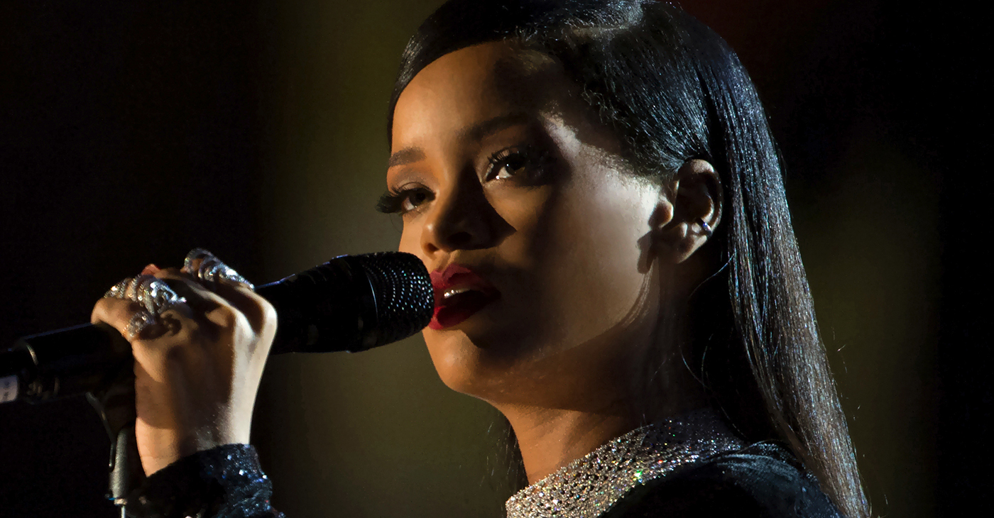 Rihanna also becomes the first woman to create an original brand for the group and the name of the line is called Fenty. (Photo: Rihanna sings during The Concert for Valor in Washington, D.C. Nov. 11, 2014., DoD News photo by EJ Hersom / Wikimedia Commons)