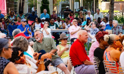 The crowd enjoying the inaugural Live at Boyd Plaza on May 26 (Photo by: charlestonchronicle.net)