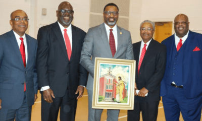 (l-r) Bernard Bridges, Judge Reeves, Derrick Johnson, Fred Banks, Douglas Sanders. (Photo by: themississippilink.com)