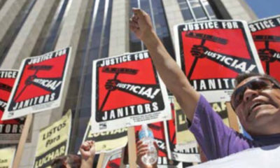 Americans rally nationwide for janitors' rights. (Courtesy photo)