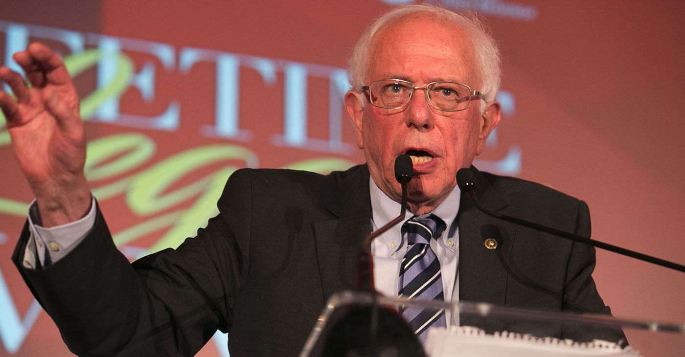 """""""People aren't able to go to the doctor because they can't afford to and if you go to a hospital, you're afraid to get hit with a $50,000 medical bill,"""" said Sanders, before promising that a Sanders Administration would work to provide medical coverage for all."""