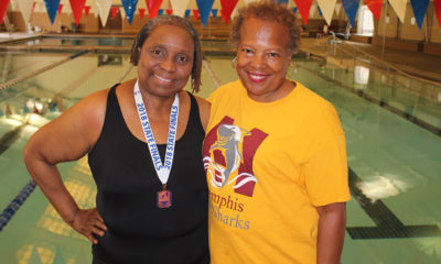 "Loretta Griffin (left), 68, trained for the Senior Olympics at the Bickford Aquatic Center with her coach Cynthia Dickerson. ""I just think she's a winner,"" Dickerson said of Griffin. ""You don't find that in many people."" (Photo: George W. Tillman Jr.)"
