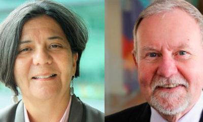 (l-r) Dr. Sandra Hernández and Raymond Baxter