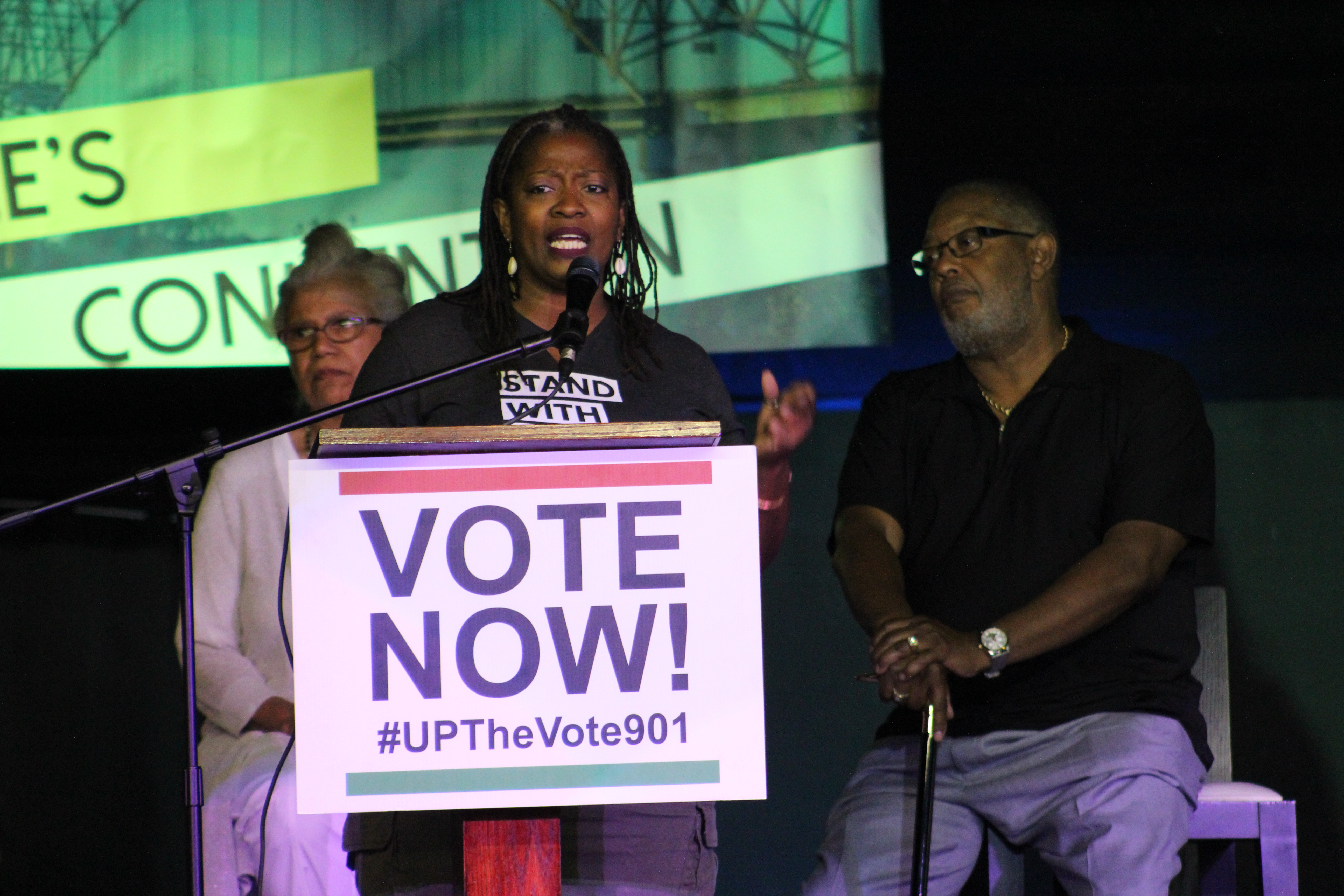 Cherisse Scott, founder and CEO of SisterReach, opened with fiery remarks, calling for women's health policies that will benefit women of color. (Photo: Lee Eric Smith)