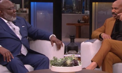 Bishop T.D. Jakes and Steve Harvey (Photo by: defendernetwork.com)