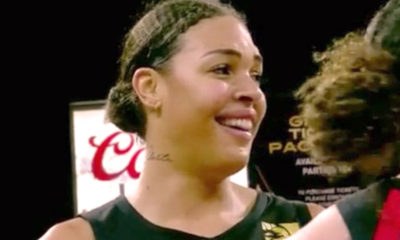 Las Vegas center Liz Cambage (Courtesy of Twitter)