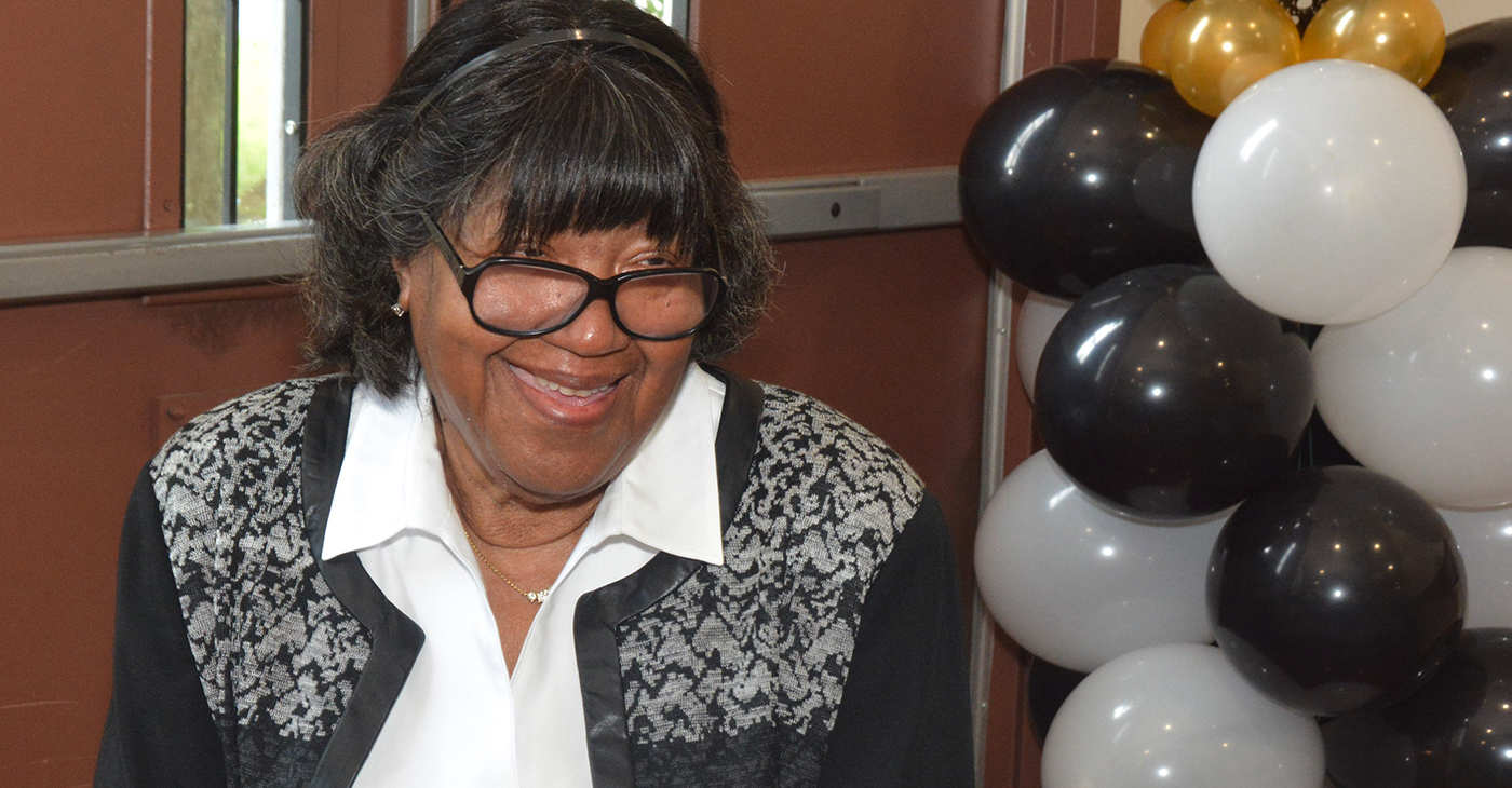 """""""My doctor said they made a mistake on my birth certificate because I can't possibly be 87 years old,"""" said Ruth Tate as she celebrated her birthday. """"But I say, we are going to keep living and enjoying our life. We're not going to let age stop us."""" (Photo: Tyrone P. Easley)"""
