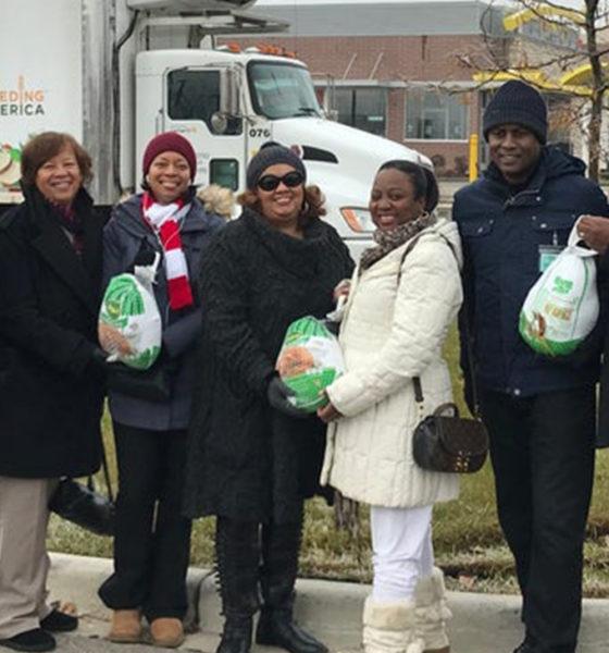 BMOA Members at Turkey give away at McDonald's at 1321 W. 8 Mile Road