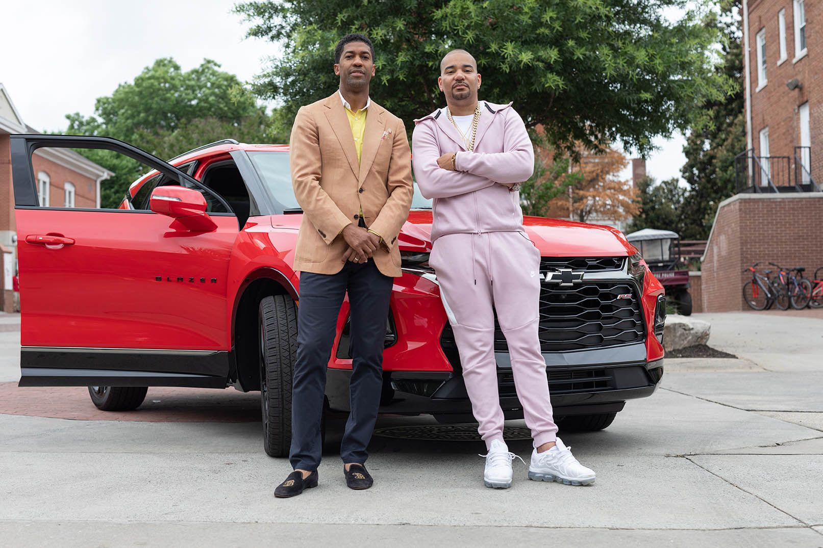 (pictured left to right) The 2019 Chevrolet Discover the Unexpected Advisor Fonzworth Bentley and Ambassador DJ Envy with the all-new 2019 Chevrolet Blazer. During this 8-week program, these two gentlemen will serve as resources and mentors to the six HBCU students who were selected from a dynamic pool of applicants.